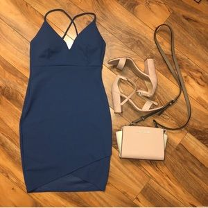Blue Bodycon / Homecoming Dress